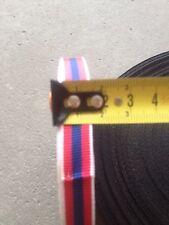 50 centimetres  de ruban Miniature médaille militaire Defense Nationale Argent