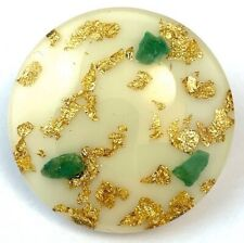VINTAGE LUCITE BROOCH GOLD FLAKES EARLY PLASTIC JEWELRY