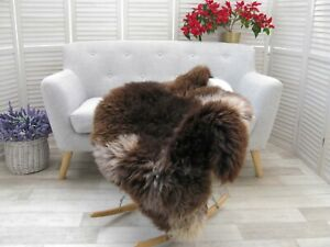 Sheepskin Rug Genuine British JACOB Real Soft Dense Fur Natural Shaggy Rug J106