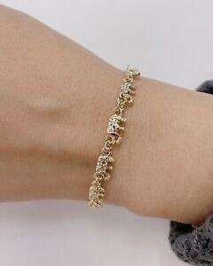 14K Gold Filled Elephant Bracelet