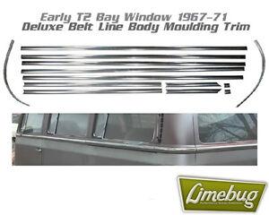 VW T2 Bay Window Deluxe Beltline Trim Early 1967-1971 Aluminium Moulding Classic