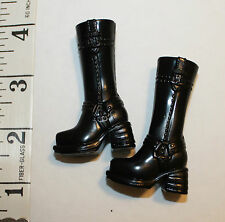 """Barbie high heel  black Boots to be used with doll 11"""" or 12""""  1/6 scale  figure"""