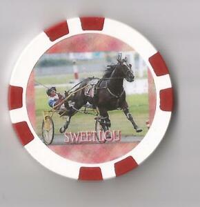 **SWEET LOU** HARNESS HORSE CHAMPION MALE PACER OF 2014    HORSE RACING CHIP