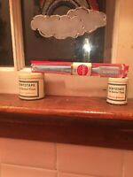 Two Vintage Johnson & Johnson Dentotape Dental Floss Tin, Toothbrush Lot