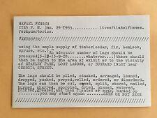 RAFAEL FERRER card 1969 Lucy Lippard 557,087 exhibit seattle vancouver B