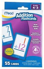 Mead Addition Flashcards K-3rd Grade ~ 55 Cards~ Teacher A+ Approved ~ 3 yrs +
