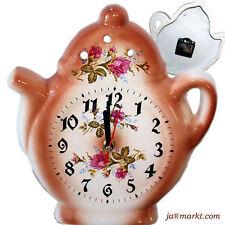 Horloge murale pour le cuisine - de céramique - teekanne-uhr style maison