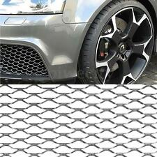 "40""x13"" Universal Aluminum Auto Car Vehicle Silver Grille Net Mesh Grill Section"