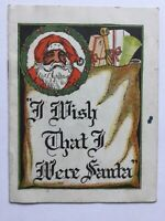Antique Santa Claus Advertising Booklet, JC Penney, Saginaw, MI, Langguth Artist