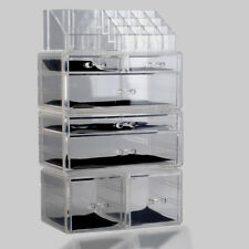 7 DRAWER MAKEUP JEWELLERY ACRYLIC COSMETIC DISPLAY STORAGE ORGANISER HOLDER BOX