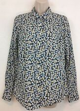 J CREW 6 Perfect Leo Scarlet Floral Liberty of London Button Down Shirt