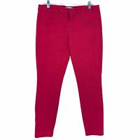Gap Women's 8 Pink Red Dot Ultra Skinny Stretch Pants Summer Leopard Print