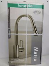 HANSGROHE METRO HIGHARC KITCHEN FAUCET.2FUNCTION SPRAY. Open Box