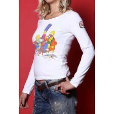 Iceberg T-shirt Donna tessuto cotone tg 44 slim fit stampa Simpson bianca