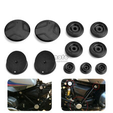 Frame Hole Cover Caps Plug Set For BMW R1200GS LC 13-18 Adventure R1200RT Black
