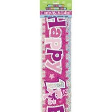 Happy 1st Birthday 12ft Party Banner Girls Birthdays Parties Banners Decorations