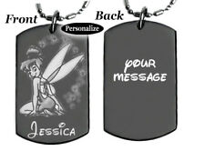 TINKERBELL - Dog tag Necklace or Key chain + FREE ENGRAVING