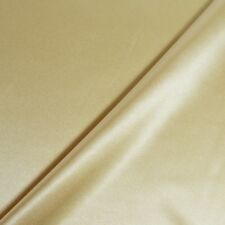 Tissu satin polyester-élasthanne uni doré clair (par unité de 20cm* voir descrip