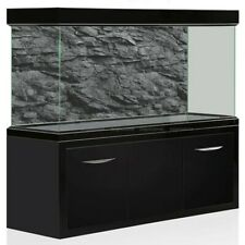 3D Effect Black Stone Texture Aquarium Background Poster Fish Tank Backdrop Deco