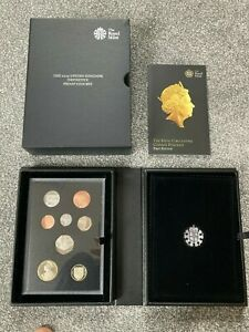 2015 Definitive Proof Coin Set, Queen 5th Portrait with COA - UK Royal Mint