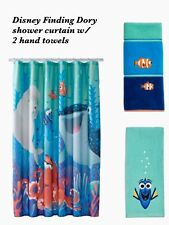New Boy Girl Disney Finding Dory Shower Curtain & 2 Hand Towels by Jumping Beans