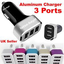 3 Port USB 12V Car Charger Cigarette Lighter Socket Adapter Plug iPhone Samsung
