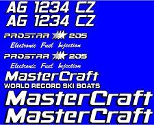 2 Color MasterCraft Prostar 205 EFI Full set #3 w/ Matching Registration Numbers