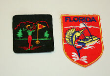 2 Vintage 1970s State Of Florida Tourist Patch Golf & Marlin Fishing Pre-owned