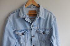 Vintage Levi's denim Jacket M pale light Blue trucker 80s 90s with hand pockets