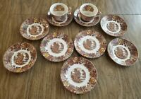 Nasco Mountain Woodland Vintage China set (11 pieces) saucer bread plate tea cup