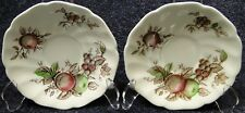"TWO Johnson Brothers Harvest Time Saucers 5 5/8"" Set of 2 NICE"