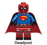 New Minifigure Rare Custom Lego Deadpool Style Super man Marvel DC Comics
