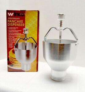 Winco Aluminum Pancake Dispenser APCD-6 5.5lbs 2.5 Quart Capacity 10 Gauge NEW