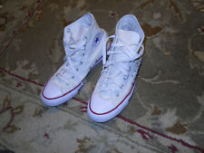 rare CONVERSE CHUCK TAYLOR ALL STARS studded HIGH TOPS WHITE-Unisex Size 8