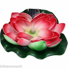 LARGE FLOATING SOLAR POWERED WATER LILLY IDEAL FOR POND OR POOL