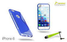 "S Curve Gel Case For 4.7"" iPhone 6 + SG + Stylus TPU Skin Soft Jelly Cover"