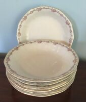 7 Vintage Large E.H.S.S.V. China Soup Bowls