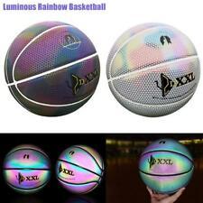 Luminous Street Basketball Night Pu Glowing Rainbow Light Rubber Basketball