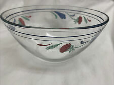 New ListingLenox Poppies On Blue 9� All Purpose Clear Glass Arcoroc Vegetable Serving Bowl