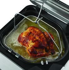Large Butterball Turkey Electric XL Stainless Steel Indoor Deep Fryer Basket Pot