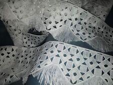 top qualité haute couture !! 1 m de dentelle guipure col blanc 9 cm large