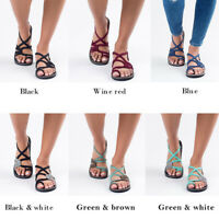 Gladiator Rome Shoes Women Cross Tied Sandals Summer Beach Flats Fashion Shoes
