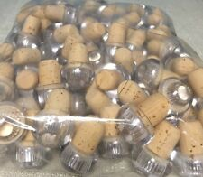 ITALIAN Wine Tops Cork Bottle Stopper CLEAR (100 Pcs)