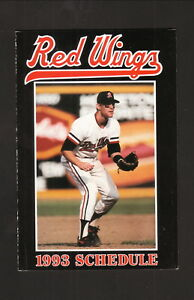 Rochester Red Wings--1993 Pocket Schedule--First Federal--Orioles Affiliate