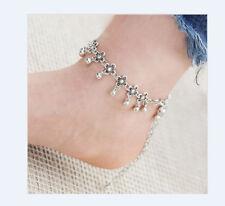 Fußkettchen Fusskette  Farbe Silber Kette Schmuck Geschenk