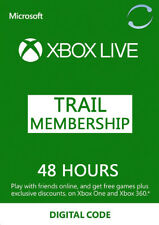 Xbox Live - 48 Hours - Trial Gold Membership Key for Xbox One 360 2 days Card