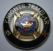 More details for large masonic car emblem/decoration/badge. knights templar. freemasons. 75mm