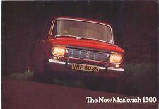 Moskvich 1500 Saloon Estate 412 427 1974 -76 original del Reino Unido Plegable de folleto de ventas