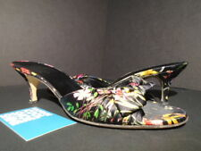 WOMEN GUCCI SANDALS TESS CUOIO ROSE FLORAL BLACK RED MULTICOLOR 155156 7