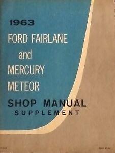 1963 Ford Fairlane Ford Mercury Meteor Shop Manual Vintage book
